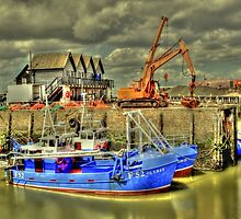 Fishing boats of Whitstable (HDR)  by larry flewers