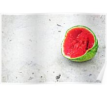 The Remains Of Summer - Watermelon Art By Sharon Cummings Poster
