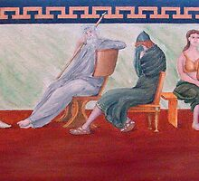 Classical Greek Scene Six Women by etcgallery
