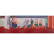Classical Greek Scene Six Women Photographic Print