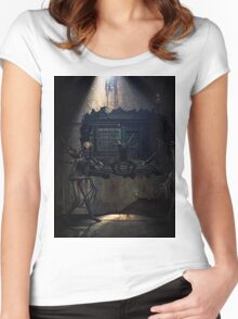 Demons come out to play Women's Fitted Scoop T-Shirt