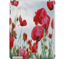 Field of Poppies Against Grey Sky  iPad Case/Skin