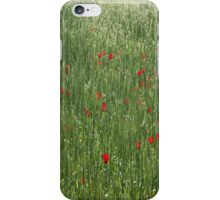 Poppy Field And Springtime Hay Meadow iPhone Case/Skin