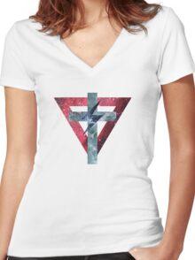 Lady Gaga Symbols Women's Fitted V-Neck T-Shirt