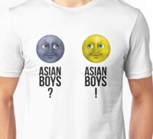 Asian boys?; Asian boys! - Moon emoji. Unisex T-Shirt