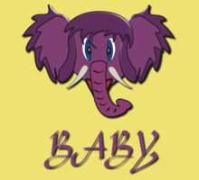 A Baby design T-shirt of a Wooly Mammoth baby Kids Tee