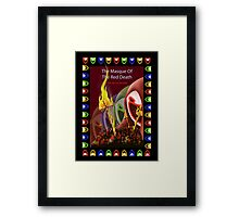 The masque of the red death Framed Print