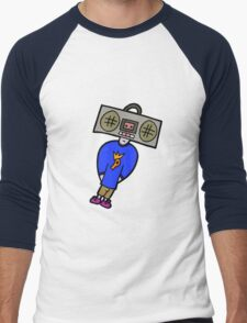 BOOMBOX HEAD Men's Baseball ¾ T-Shirt
