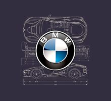 BMW 3D Badge over BMW i8 Blueprint  T-Shirt