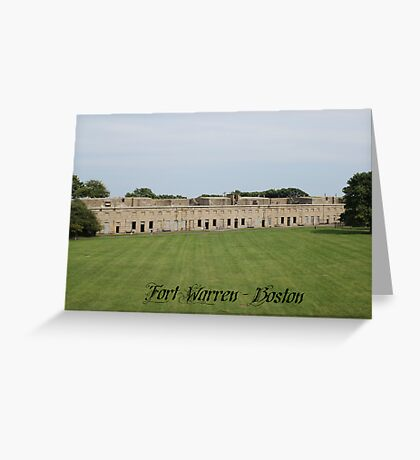 Fort Warren Boston Massachusetts Greeting Card