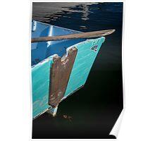 Blue Boat in Kennebunkport Poster