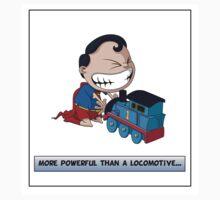 Look its a Bird! - More powerful than a locomotive Kids Tee