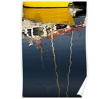 Yellow reflection in Kennebunkport Poster