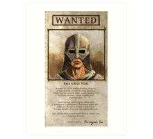 Wanted: The Gray Fox Art Print