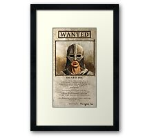 Wanted: The Gray Fox Framed Print