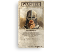Wanted: The Gray Fox Metal Print