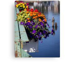 Flower Baskets on the Kennebunkport Bridge Canvas Print