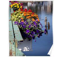 Flower Baskets on the Kennebunkport Bridge Poster
