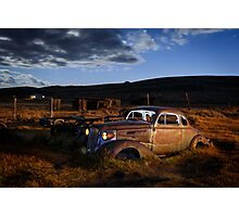 1937 Chevrolet in Bodie at Night Photographic Print