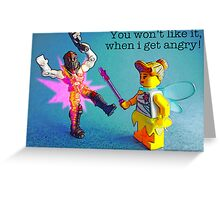 A fairy with anger management issues! Greeting Card