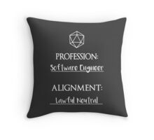 Software Engineers are lawful neutral Throw Pillow