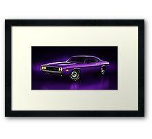 Dodge Challenger Hemi - Shadow Framed Print