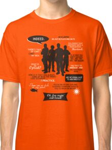Stargate SG-1 - quotes (B/W design) Classic T-Shirt