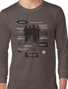 Stargate SG-1 - quotes (B/W design) Long Sleeve T-Shirt