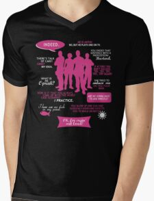 Stargate SG-1 - quotes (Pink/White design) Mens V-Neck T-Shirt