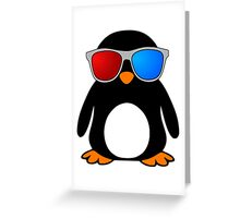 Swaggy Penguin Greeting Card