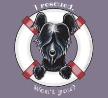 Rescued Skye Terrier (bold) by offleashart