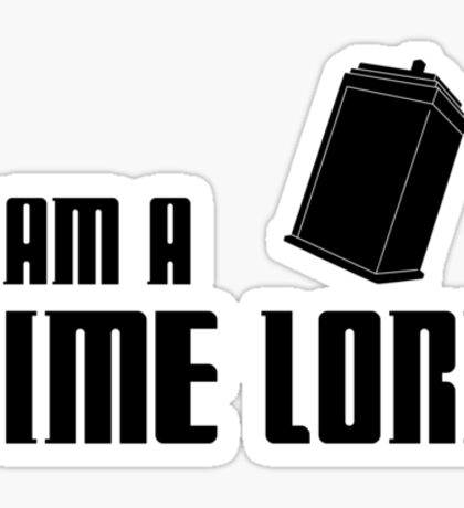 I Am A Time Lord Sticker