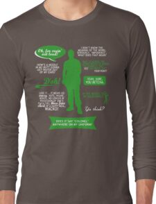 Stargate SG-1 - Jack quotes (Green/White design) Long Sleeve T-Shirt