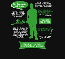 Stargate SG-1 - Jack quotes (Green/White design) Womens Fitted T-Shirt