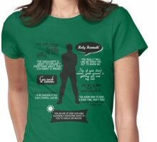 Stargate SG-1 - Sam quotes (B/W design) Womens Fitted T-Shirt