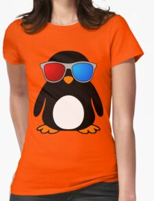 Swaggy Penguin Womens Fitted T-Shirt