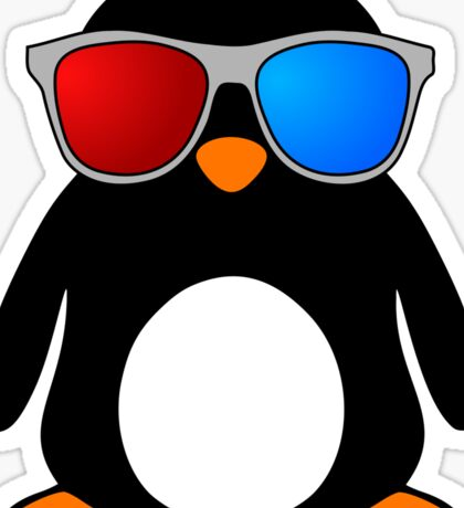 Swaggy Penguin Sticker