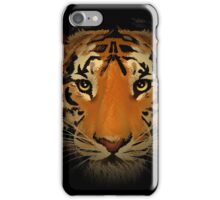 The tiger head in the dark. iPhone Case/Skin