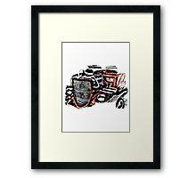 Hot Rod (alpha bkground for light tshirts) Framed Print