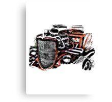 Hot Rod (alpha bkground for light tshirts) Canvas Print