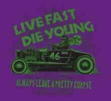 Hot Rod Live Fast Die Young - Green (alpha bkground) by AbsinthTears