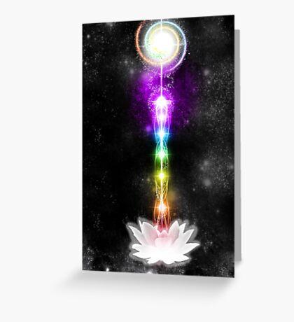 Sacred Chakras Sacred Lotus Greeting Card