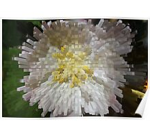 Extruded Flower  Poster