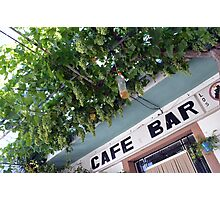 Bar Terrace With Hanging Vines Photographic Print