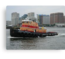 Vincent D Tibbetts Jr Tugboat Canvas Print