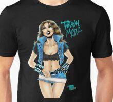 Thrash Metal Chick Pinup Unisex T-Shirt