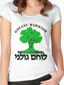 Golani Brigade Logo Women's Fitted Scoop T-Shirt