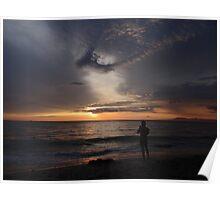 colors of a sunset - colores de una puesta del sol Poster