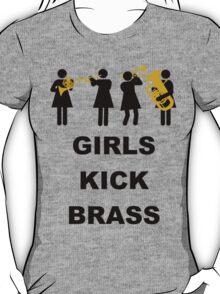 Girls Kick Brass T-Shirt