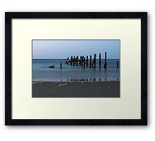 Happisburgh Beach Groynes Framed Print